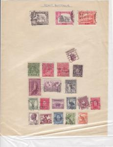 Aden & Australia Stamps on Album Page ref R 18962