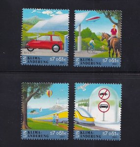 United Nations Vienna  #297-300    MNH  2001  climate change
