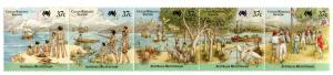COCOS ISLAND 172 MH STRIP/5 SCV $10.00 BIN $4.50 PEOPLE