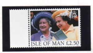 Isle of Man Sc 802 1998 Queen Mother & QE II stamp mint NH