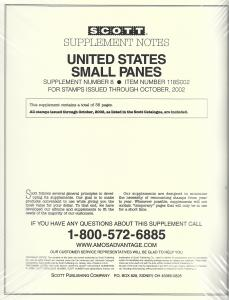Scott United States Small Panes #8 Supplement 2002