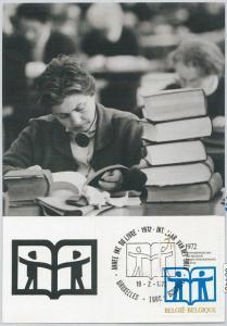 63445 -  BELGIUM - POSTAL HISTORY: MAXIMUM CARD 1972 -  EDUCATION
