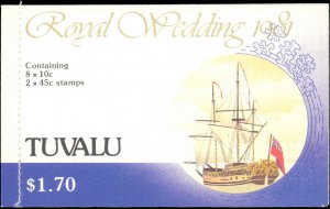 Tuvalu #157a, 160a, Complete Set, Unexploded Booklet, 1981, Royality, Never H...