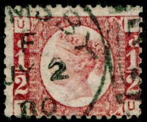 SG48, ½d rose-red PLATE 15, USED, CDS. Cat £40. TU