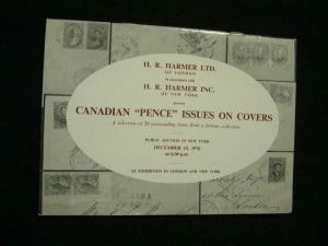 H R HARMER AUCTION CATALOGUE 1976 CANADA 'PENCE' ISSUES ON COVER