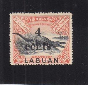 Labuan: Sc #113a, MH, Broken N (33069)