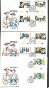 1985 Scouts Isle of Man Girl Guides 75th anniversary FD gutter pair