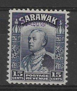 SARAWAK-JAP.OCC. SGJ16 1942 15c BLUE MTD MINT