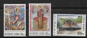 CYPRUS SG416/8 1973 CHRISTMAS MNH