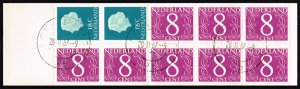 Netherlands #346d Definitive Bklt Pane of 10; CTO (5Stars)