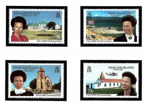 Falkland Is 649-52 MNH 1996 Visit by Princess Anne