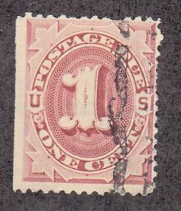 United States - 1884 - SC J15 - Used - SE, Pulled perf