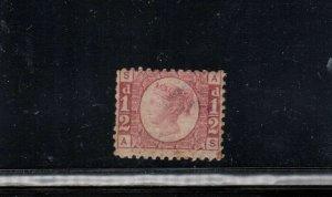 Great Britain #58 Mint Fine Full Original Gum Lightly Hinged Plate #9