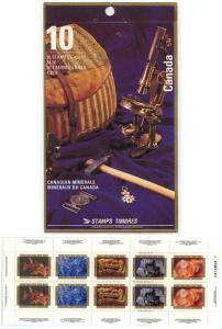 Canada - 1992 Minerals Complete Booklet Open Cover mint #BK147b