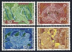 Liechtenstein 454-457, MNH. Mi 508-511. Biology, Physics, Astronomy, Art. 1969.