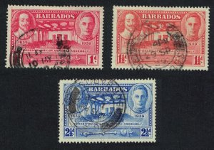 Barbados Tercentenary of General Assembly 3v canc SG#258-260