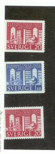 SWEDEN Sc#600-602 Complete Set Mint Never Hinged