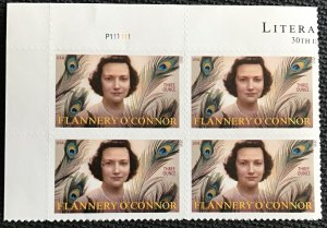 US #5003 MNH UL Plate Block of 4 Flannery O'Connor (.93) SCV $7.60