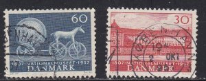 Denmark # 363-364, National Museum 150th Anniversary, Used, 1/2 Cat.