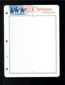 White Ace Historical Stamp Album Pages Christmas Topical Blank Pages Pack of 12
