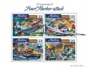 MALDIVES 2016 SHEET PEARL HARBOR SECOND WORLD WAR WWII mld16410a
