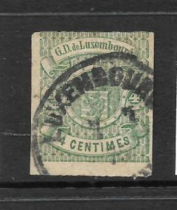 LUXEMBOURG  1874   4c  ARMS  FU  IMPERF  Sc 27
