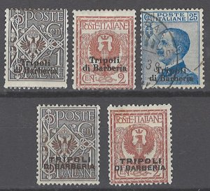 COLLECTION LOT # 2113 ITALY OFFICES IN AFRICA 5 STAMPS 1909+