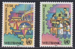 U.N. - Vienna # 88-89, World Bank, NH, 1/2 Cat.