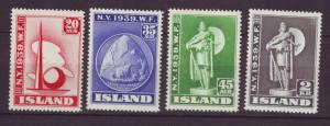 J19155 Jlstamps 1939 iceland set mnh #213-6 new york worlds fair