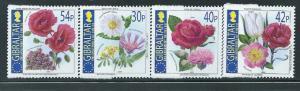 Gibraltar - 2003 - National Flowers - 4 Stamp Set Scott #946-9