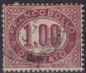 Italy #O5 F-VF Used CV $20.00  (K2882)