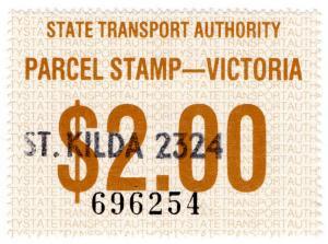 (I.B) Australia - Victoria Railways : Parcels Stamp $2 (St Kilda)