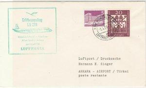 Germany 1961 Lufthansa LH 298 Slogan Munich Cancel Stamps Flight Cover Ref 27088