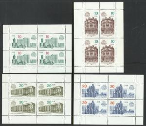 GERMANY DDR 1987 BERLIN ANNIVERSARY Miniature Sheet Set Sc 2628a-2631a MNH