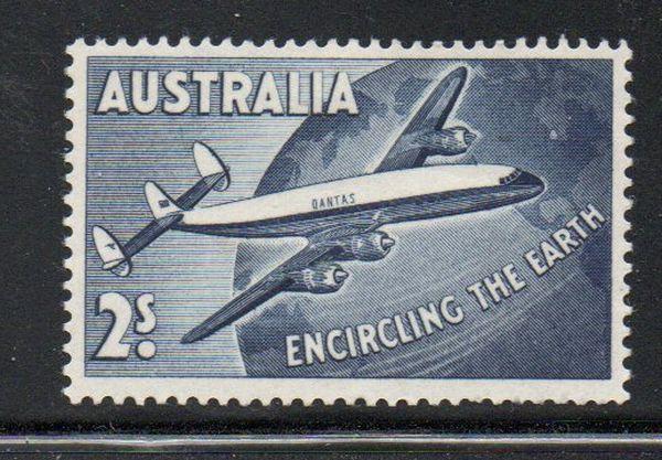 Australia Sc C8 1958 2/ Airmail stamp mint