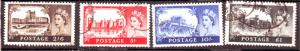 J18511 JLstamps 1959 great britian set used #371-4 queen