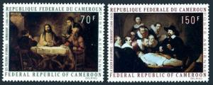 Cameroun C154-C155,MNH.Michel 631-632. Paintings by Rembrandt,1970.