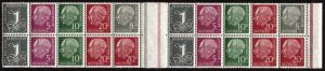 GERMANY Deutsche BundesPost #704 #710 Postage Gutter Block Plate Stamps MINT LH
