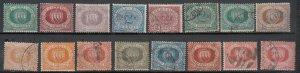 San Marino - 1877/1899 Coat of Arms stamp lot  (7264)
