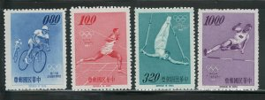 R.CHINA - TAIWAN 1964 OLYMPICS #1424-1427 NO GUM AS ISSUED