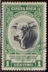 Costa Rica 1950 Bull - Cattle Raising SC#C197 Used