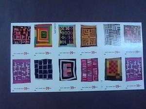 U.S.# 4089-4098(4098a)-MNH-BOOKLET PANE OF 20-AMERICAN TREASURES/QUILTS-2006