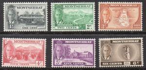 Montserrat 1951  Short set to 6c MH