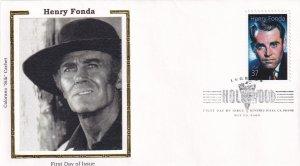 2005, Honoring Henry Fonda, Colorano Silk, FDC (E11865)