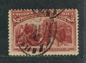 US Sc#242 Used/F, Cv. $525