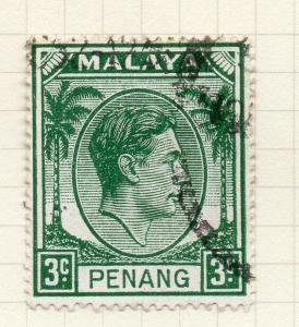 Malaya Straights Settlements 1949 Penang Early Issue Fine Used 3c. 299042