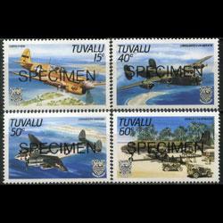 TUVALU 1985 - Scott# 307-10 Planes Specimen Set of 4 NH