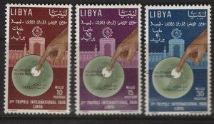 LIBYA  240-242 MNH  INTERNATIONAL FAIR SET 1964