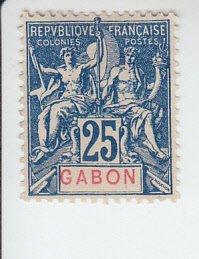 1904 Gabon Navigation & Commerce (Scott 23) MHR