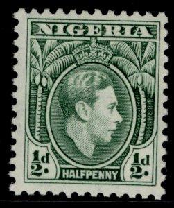 NIGERIA GVI SG49a, ½d green, NH MINT. PERF 11½